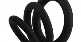 Beauty7 Silikon Penis Ringe Cock Ringe für eine Harte & Lang Anhaltende Erektion 3 Größe Schwarz -