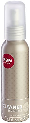 Fun Factory Toycleaner, 75ml Aluflasche Pumpspray, Desinfektion, Reinigung, Pflege -