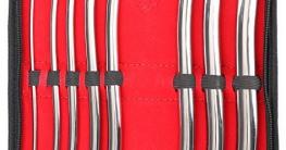 Harnröhren Dilator Set - 8 Metallsonden mit Doppelenden 3mm bis 18mm Profiqualität von MedTekCo lebenslange Garantie -
