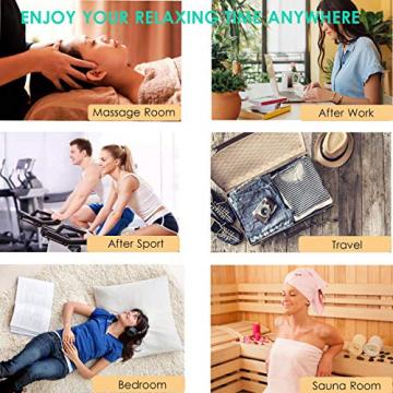 Kabelloser Massagestab Mini Wand Massager mit 20 Vibrationsmodi, Magic Elektrisches Massagegerät für rücken Nacken Schulter Rücken Körpermassage - 5
