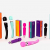Six Nine Massage Wand Massagestab kabelloser elektrisch - 20 Verschiedene Vibrationsarten 8 Geschwindigkeiten - inkl. Reisetasche (Rosa) - 7